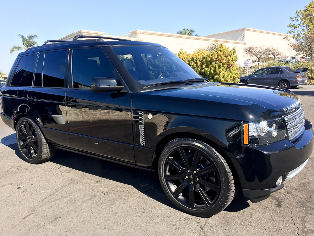 West Coast Auto Detail and Accessories black range rover
